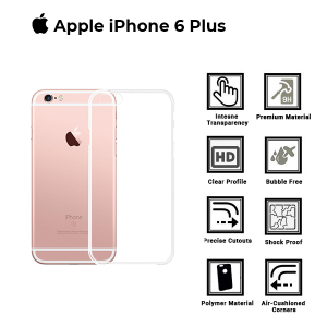 A BETTER MINIMALIST CASE for iPhone 6 Plus, Ultra Thin [1.5mm] Slim Fit Flexible Soft TPU Case for iPhone 6 Plus