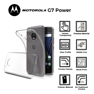 A BETTER MINIMALIST CASE for  c, Ultra Thin [1.5mm] Slim Fit Flexible Soft TPU Case for Motorolla G7 Power
