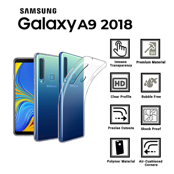 A BETTER MINIMALIST CASE for Samsung-A9-2018, Ultra Thin [1.5mm] Slim Fit Flexible Soft TPU Case for Samsung-A9-2018
