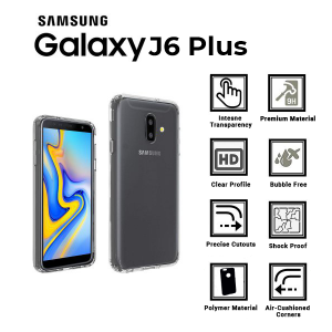 A BETTER MINIMALIST CASE for Samsung-J6 Plus, Ultra Thin [1.5mm] Slim Fit Flexible Soft TPU Case for Samsung-J6 Plus