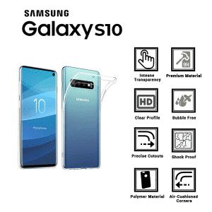 A BETTER MINIMALIST CASE for Samsung-S10, Ultra Thin [1.5mm]  Slim Fit Flexible Soft TPU Case for Samsung-S10