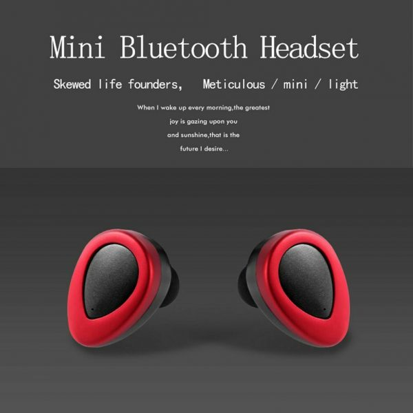 Mini Bluetooth Wireless Headset TWS Earphone Earbud Handfree Mic for iOS Android